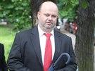 Bývalý ministr vnitra Martin Pecina přichází na ruskou ambasádu slavit výročí...