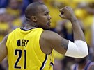 David West z Indiany p�edvedl proti Washingtonu skv�l� v�kon, na v�hru v�ak...