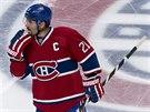 Brian Gionta z Montrealu po prohře s Bostonem.