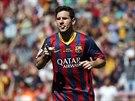 Lionel Messi si vychutnává trefu proti Getafe.