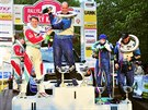 Vítězné posádky Rallye Český Krumlov na stupních vítězů