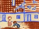 Pastel Josefa �apka D�ti a holubi