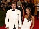 David Beckham a Victoria Beckhamová (New York, 5. května 2014)
