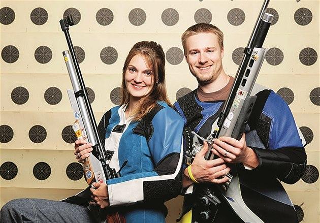 Kate�ina Emmons s man�elem Matthewem Emmonsem, který má také t�i olympijské...