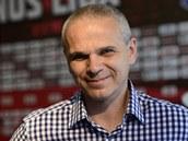 Spar�ansk� tren�r V�t�zslav Lavi�ka se usm�v�, jeho t�m z�skal mistrovsk� titul.