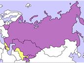 Členské státy Organizace Smlouvy o kolektivní obraně. Bývalí členové jsou