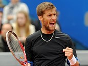 Slovenský tenista Martin Kližan na turnaji v Mnichově.