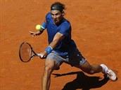 Rafael Nadal v duelu s Tomášem Berdychem.