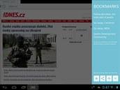 Prohlížeč Javelin Browser se pohodlně ovládá a obsahuje mnoho užitečných funkcí