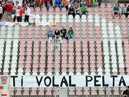 Při odvetě semifinále domácího poháru mezi Brnem a Plzní se fanoušci bavili i