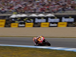 Marc M�rquez na okruhu v Jerezu v z�vodu MotoGP.