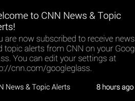 Svou aplikaci pro Glass má i CNN. Dobře lze nastavit, na co má prográmek...