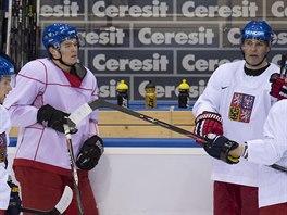 Češi na prvním tréninku v Minsku.