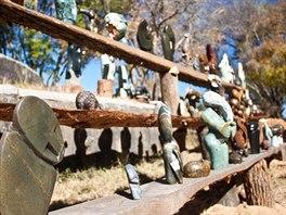 Sošky z měkkého kamene jsou symbolem umění v Zimbabwe a tuto zemi také...