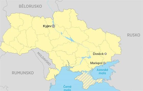Mapa Ukrajiny - Mariupol