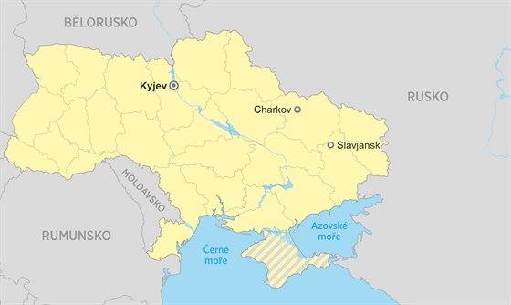 Jednotky kyjevsk� vl�dy v noci na sobotu za�to�ily podle agentury Unian na...