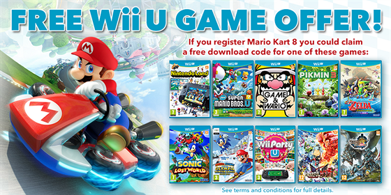 Hra zdarma k závodům Mario Kart 8