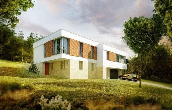 Rosa – Architekt: Rodinný dům je navržen ve svahu, který se svažuje k severu