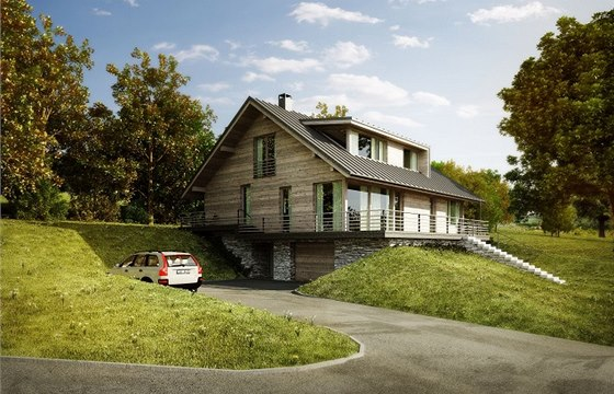 Rosa – Architekt: Rodinný dům je osazený ve svahu s jihovýchodní orientací v