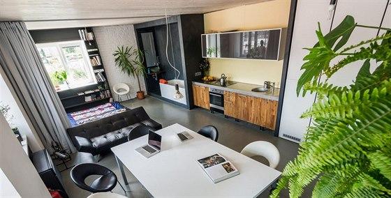 """""""Náš Mini Loft jsme si navrhli tak, aby prostor dobře sloužil pro bydlení,..."""