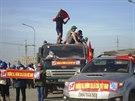 Vietnamci protestují proti čínským teritoriálním ambicím v Jihočínském moři...