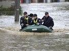 Zaplavené předměstí Sarajeva (15. května 2014)