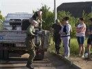 Ruští separatisté ve Slavjansku (15. května 2014)