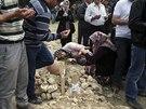 Pohřeb tureckých horníků, kteří zahynuli při tragédii v Somě (15. května 2014)
