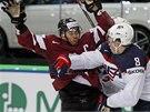 Amiercký hokejista Jacob Trouba dal pěstí Herbertsu Vasiljevsovi z Lotyšska.