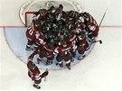 �OK. Hokejist� Loty�ska slav� na MS ne�ekanou v�hru nad USA.