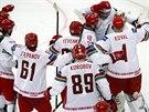 ČTVRTFINÁLE! Hokejisté Běloruska slaví postup mezi nejlepší osmičku na domácím...
