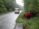 Nehoda Peugotu 306 mezi Vacenovicemi a Vracovem. Škoda činí 30 tisíc korun.