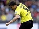 GÓL. Robert Lewandowski, střelec Dortmundu, skóruje v utkání na hřišti Herthy