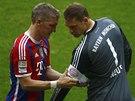 VYNUCENÉ STŘÍDÁNÍ. Bastian Schweinsteiger utkání proti Stuttgartu nedohrál. S