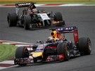 Sebastian Vettel při Velké ceně Španělska.