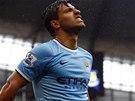 SKORO. Sergio Agüero, útočník Manchesteru City, lituje zahozené šance.