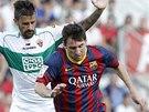 NEPROSADIL SE. Lionel Messi v z�pase proti Elche g�l nedal, stejn� jako jeho