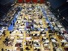 Lid� ze srbsk�ho m�sta Obrenovac byli evakuov�ni do jedn� ze sportovn�ch hal v...