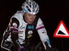 Cyklistická ultramaratonkyně Hana Ebertová na trati extrémního závodu kolem