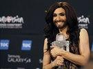Vítězem letošního ročníku televizní písňové soutěže Eurovize se stala vousatá...