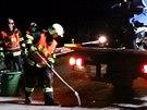 Hasiči při tragické nehodě na 181. kilometru D1 poskytli první pomoc, zajistili...
