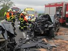 Na Blanensku do�lo o v�kendu k tragick� dopravn� nehod�. �eln� se tam srazila...