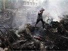 """Situace v Mariupolu je podle místních médií """"stabilně napjatá"""". (10. května"""
