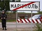 """Situace v Mariupolu je podle ukrajinských médií """"stabilně napjatá"""". (10. května"""