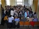 Obyvatel� Don�ck� a Luhansk� oblasti na v�chod� Ukrajiny hlasuj� o budoucnosti
