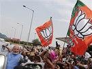 Budoucí indický premiér Naréndra Módí přijel do Nového Dillí pozdravit své