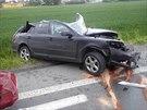 Dopravní nehoda u Dražkovic na Pardubicku