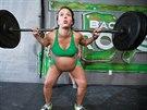 Meghan Leathermanová dva dny před porodem trhla svůj osobní rekord. Zvedla 97,5...
