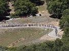 Cyklisté během nejtěžší etapy závodu Kolem Kalifornie.