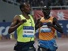 Yenew Alamirew vítězí v závodě na 5 000 metrů při Diamantové lize v Šanghaji.